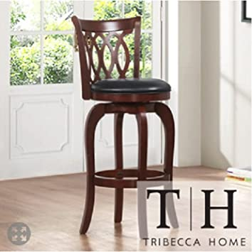Verona Cherry Scroll-back Swivel 24-inch Counter Stool, A Contemporary Bar Stool Which Will Add Stye to Your Dining Room or Kitchen. This Stool is Elegant and Sturdy