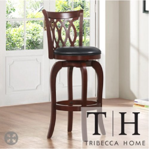 Amazoncom Verona Cherry Scroll Back Swivel 24 Inch Counter Stool