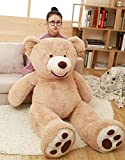 Livingly Light 63'' 5.2 Feet Giant Teddy Bear Super Big Plush Stuffed Animal Brown Doll Toy for Valentine's Day Birthday Gift 160cm