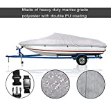Blue Sky the Color of Imagination Bluesky 600D Boat Cover V-Hull Cover Outdoor Waterproof Heavy Duty Special Cover,Fishing Boat Runabout Full Size Boat Cover