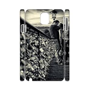 3D Lovers Kissing in Paris Samsung Galaxy Note 3 Cases, [White]