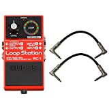 Boss RC1 Loop Station Stomp Box Effect Pedal w/ Patch Cables