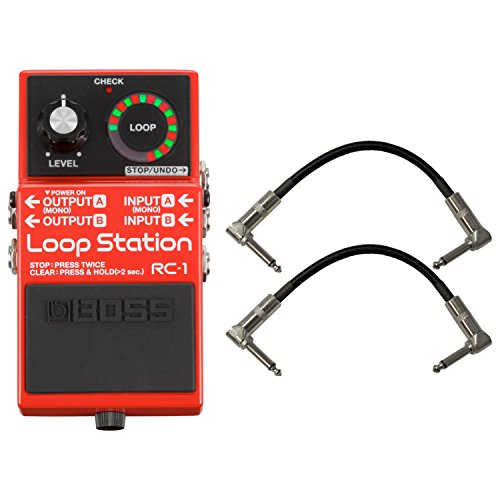 Boss RC1 Loop Station Stomp Box Effect Pedal w/ Patch Cables by Boss Audio