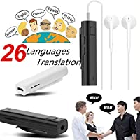 Traducteur Vocal multilingue Blue-Tooth Translation Receiver Portable 26 Langues Traduction instantanée Traducteur en Temps réel