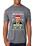Jingle Bell Rock The Rock Santa Xmas Funny | Mens Ugly Christmas Premium Tri Blend T-Shirt, Premium Heather, X-Large