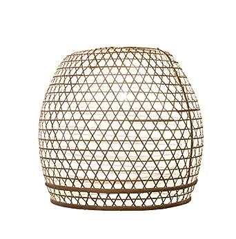 Lámpara Pantalla bambú Basket L - Blanco, bambú lámpara de ...