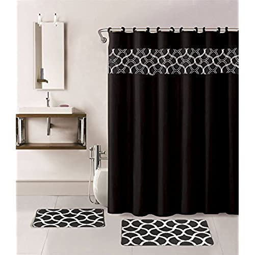 Black And White Shower Curtain Set Curtain Menzilperde Net