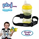 PBnJ Baby SippyPal Sippy Cup Holder Strap Leash Tether (1 Black Solid)