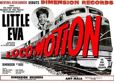Little Eva - The Loco-Motion - 1962 - Single Release Promo Poster Classic Jazz Concert Poster