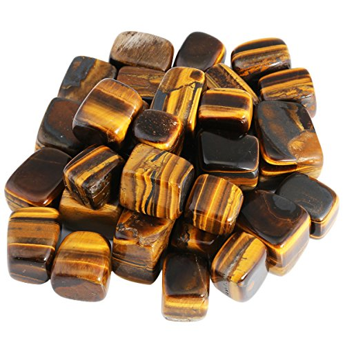 - SUNYIK Tumbled Polished Stones,Smooth Rock Crystal for Tumbling,Cabbing,Tiger's Eye Stone 1pound(About 460 Gram)