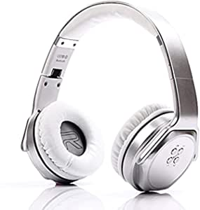 Sodo MH3 2-in-1 Wireless Bluetooth On-Ear Headphones and Twist Out Bluetooth Speaker - Silver