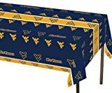 Creative Converting West Virginia Mountaineers Plastic Table Cover, 54''x 108''