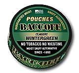tobacco alternative pouches - BaccOff, Classic Wintergreen Pouches, Premium Tobacco Free, Nicotine Free Snuff Alternative (5 Cans)