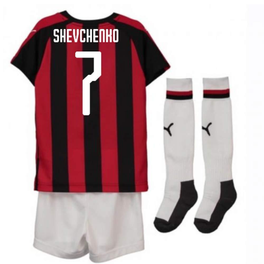 UKSoccershop 2018-2019 AC Milan Puma Home Mini Kit (Andrei Shevchenko 7)