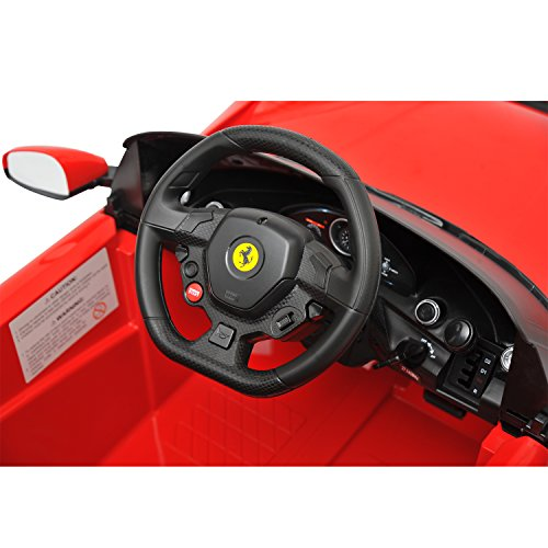 amazoncom ferrari f12 kids 6v electric ride on toy car w parent remote control red toys games