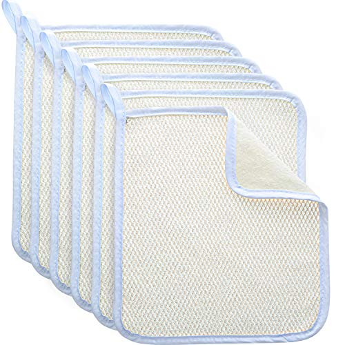Blulu Exfoliating Face Body Wash Cloth Towel Dual-Sided Exfoliating Scrub Towel Soft Weave Beauty Skin Washcloth Home Massage Bath Cloth, 5 ()