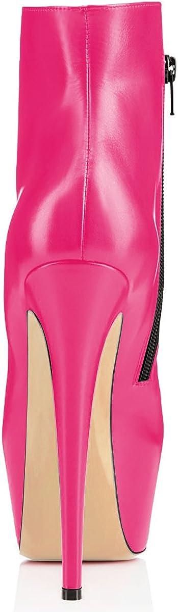 elashe Ankle Boots | 15cmTrendige Damen Stiefeletten | Plateau Stiefel mit Absatz Rosa v79jj