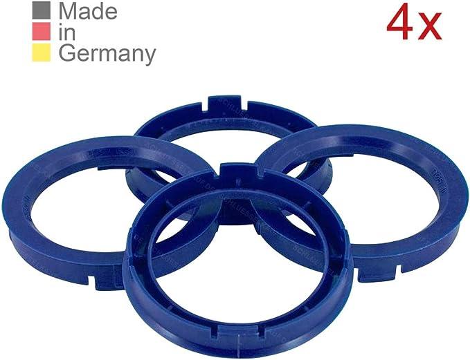 Konikon 4x Zentrierringe 66 6 X 57 1 Mm Blau Felgenring Adapterring Für Verschiedene Felgen Passend Für Mercedes Benz Audi Vw Seat Skoda Auto