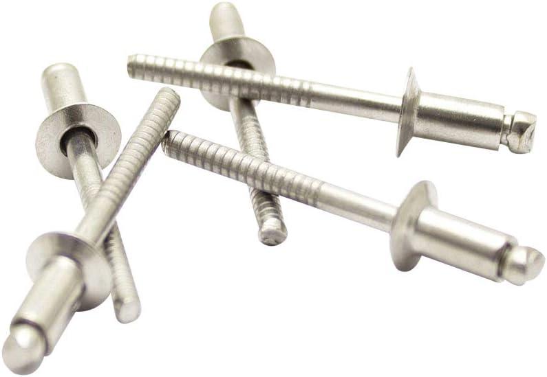 Senkkopf 3,0 X 8 mm Edelstahl A2 Blindnieten DIN 7337 m 50 St/ück - Popnieten Nieten