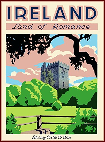 Blarney Castle - American Magnet MAGNET Blarney Castle Co Cork Ireland Vintage Travel Advertisement Art Magnet Print