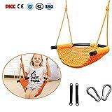 Molie Children's Swing Children's Indoor Outdoor Swing Set Backyard Swings Seat Set with Rope Net Household 3-in-1 Outdoor Hanging Chair