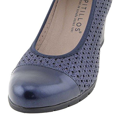 PITILLOS Chaussures en Cuir Verni Salon Marine DEv5G5ul