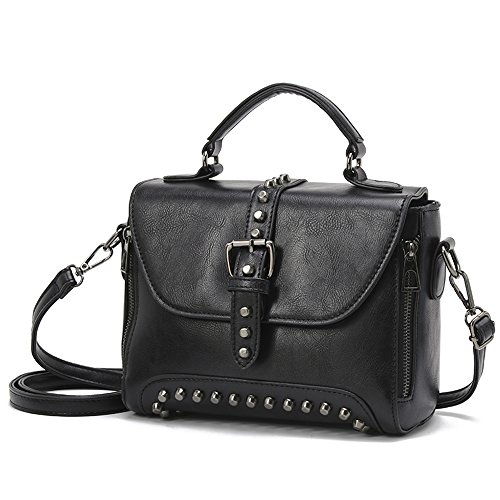 Women Messenger Bag PU Leather Crossbody Satchel Shoulder Handbag - 1