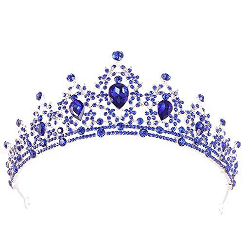 Gold Bridal Crown Crystal Wedding Hair Accessories