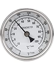 """Pot Thermometer, 1/2"""" NPT Stainless Steel Metal Beer Thermometer Pot Thermometer for Brewing Beer"""
