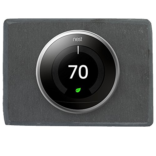 Koyal Wholesale Thermostat Trim Plate for Nest, Wall Plate (Rectangle 6'' x 4.33'', Slate Rock) by Koyal Wholesale (Image #6)