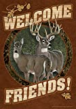 Toland Home Garden Deer Welcome 12.5 x 18-Inch Decorative USA-Produced Garden Flag