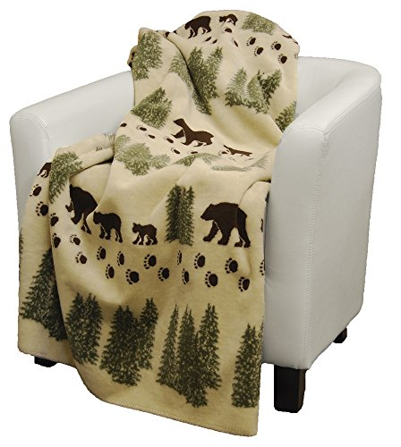 Denali Home Collection by Mont Double-Sided Reversible Throw, 50 by 60-Inch, Pearl Denali (Denali Throw Blankets)