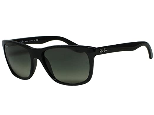 20eeda4c2d8 Image Unavailable. Image not available for. Color  Ray Ban RB4181 601 71  Black Sunglasses 57mm