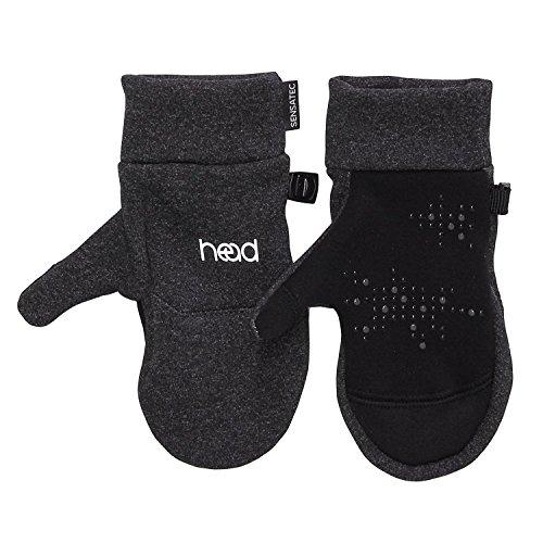 Head Kids Touchscreen Gloves   Mittens  Dk Heather Silver  X Small
