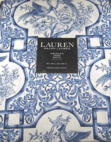 Ralph Lauren Tablecloth Chinoserie/Blue and White 60 x 120 1.
