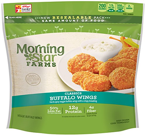 MorningStar Farms Veggie Buffalo Wings, 10.5 oz (Frozen): Amazon.com ...