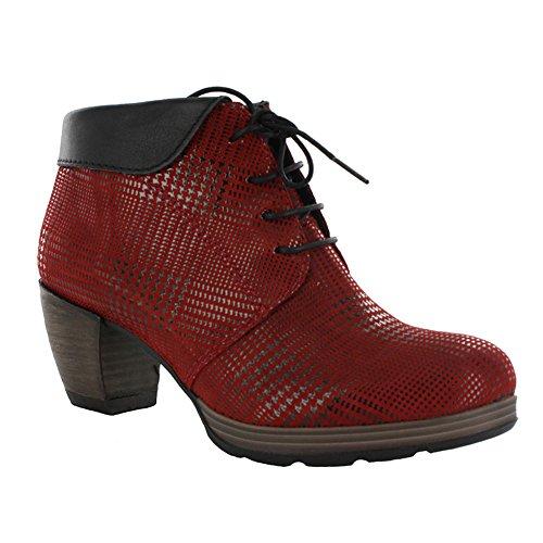 Wolky, Damen-sandalette, Juweel, 3204 Rood Dessin Suèdew / Zwarte Kraag