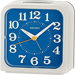 Seiko Bell Alarm Clock with Snooze & Light - White
