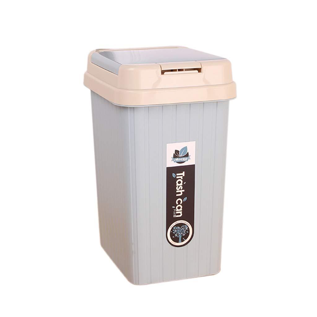 DQMSB Quadratischer Mülleimer aus Kunststoff, Gestreiftes Fass Restaurant Cafe mit Mülleimer, Multi-Farbe optional (5L, 10L) (Farbe   Light Grün, größe   10L) B07JNQSVMF | Starke Hitze- und Abnutzungsbeständigkeit
