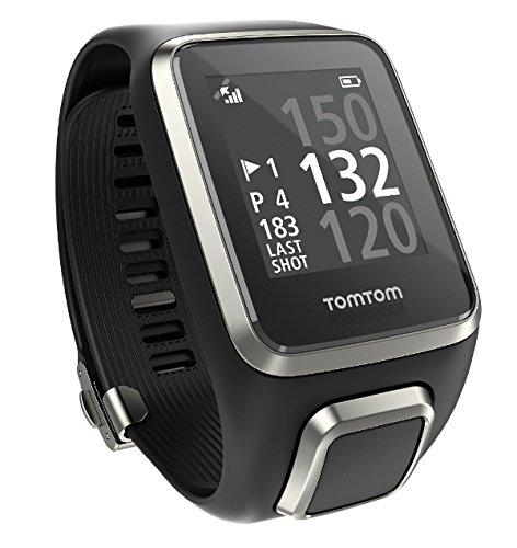 TomTom Golfer 2 GPS-Uhr (40,000 vorinstallierten Plätze weltweit, Automatische Schlagerkennung und Scorekarte, Ansicht des Grüns und Distanzen zum Grün)