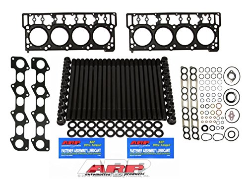 03-06 Ford Powerstroke 6.0L Diesel ARP Head Stud Kit & OEM Style 18MM Head Gaskets & Intake Manifold Installation Kit & Exhaust Gaskets Kit - Bundle (18MM)