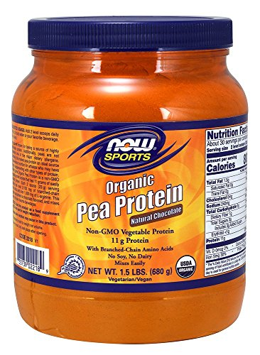 NOW Foods Organic Pea Protein, Natural Chocolate, 1.5 Pound -  NOW02218