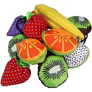 Amazon.com: Reusable Shopping Tote Bag - Folded into a Strawberry ...