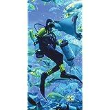 "Sport N Care Dive Towel (Diver Feed) Beach Towel 32"" x 60"""