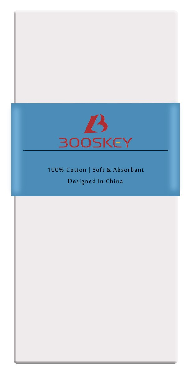 BoosKey Handkerchiefs Mens Cotton Soft, White Hankies Large and Absorbent for Men - 12 Pack by BoosKey (Image #2)