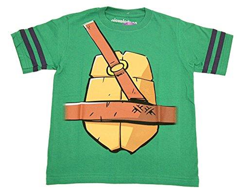 Teenage Mutant Ninja Turtles Donatello Bo Staff Boys Striped Sleeves Costume T-Shirt (Boys -