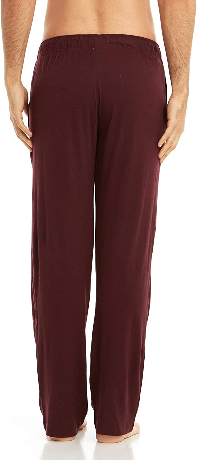 Solid Colored Pants DARESAY Mens Jersey Cotton//Modal Knit Lounge Pajama Pants with Pockets