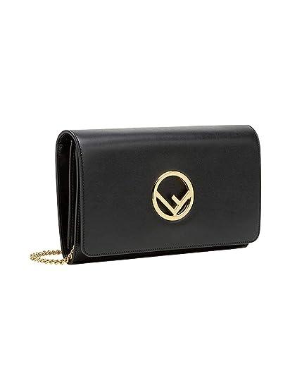 a3c45a7455 Fendi Women s 8Bs004a0kkf0kur Black Leather Wallet  FENDI  Amazon.com.au   Fashion