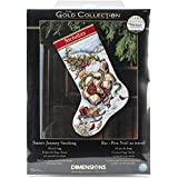 Gold Collection Santa's Journey Stocking Counted Cross Stitc