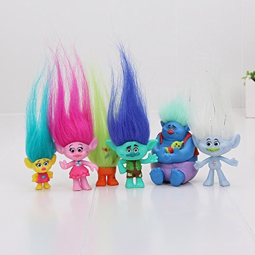 Real Action Doll - Trolls Toys Action Toys Branch Critter Skitter Figures Trolls Children Action Figure Toy,Trolls Wild Hair Pack 6Pcs/Set